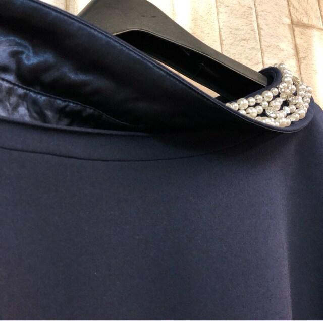 新品☆LL♪ネイビー系のパーティワンピース♪キラキラ☆n693 < 女性ファッションの