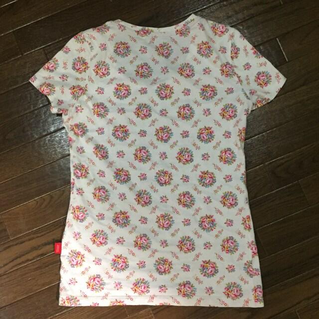 ユニクロ×green gate 花柄 半袖Tシャツ コットン100% Sサイズ < 女性ファッションの