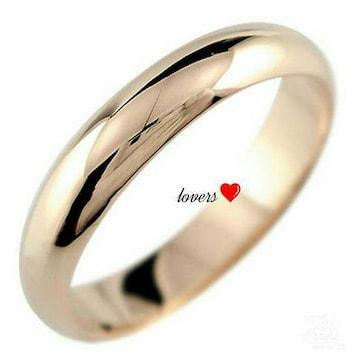 送料無料13号ピンクゴールドサージカルステンシンプルリング指輪