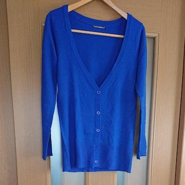 【値下げ不可】SKYBOMBER ブルー ニットロングカーディガン
