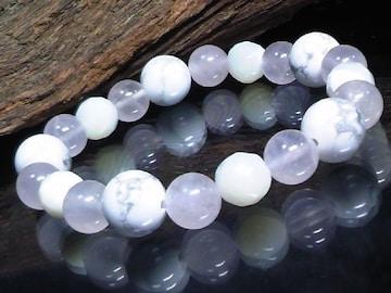 ホワイトターコイズ§ローズクォーツ§マザーオブパール数珠