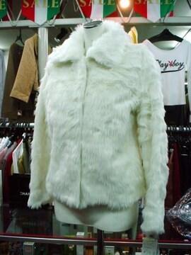 【LXY】【未使用品】フェイクファーの白ジャケット
