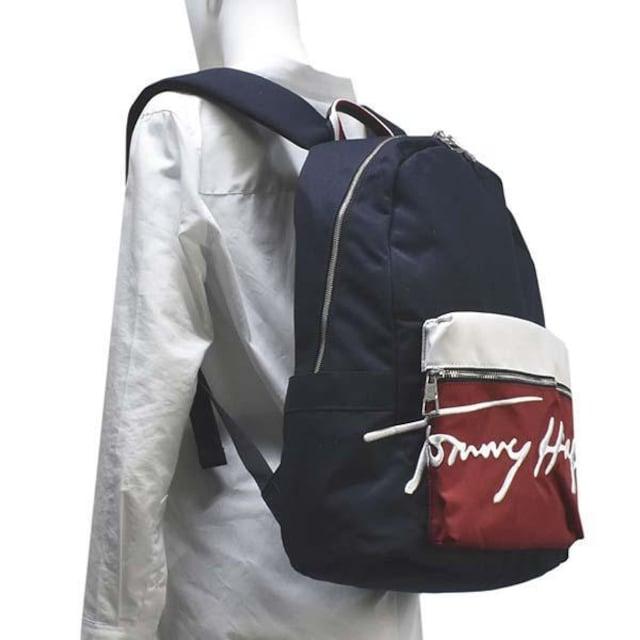 ◆新品本物◆トミーヒルフィガー SIGNATURE バックパック(NV)AM0AM07378◆ < ブランドの