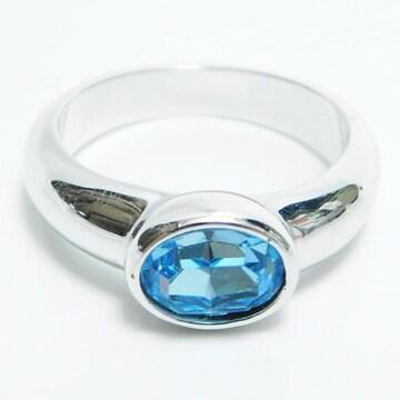 美品スワロフスキー リング 指輪 M 15号 良品 正規品