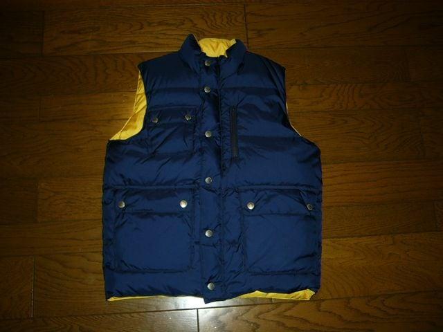 新品G1950リバーシブルダウンベストXSGIRLS紺黄系グッドイナフ  < 男性ファッションの