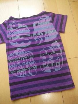 中古ペロペロボーダーTシャツ100紫JAM
