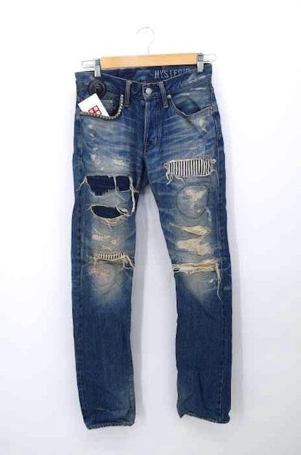 HYSTERIC GLAMOUR(ヒステリックグラマー)RSM加工デニムパンツデニムパンツ  < 男性ファッションの