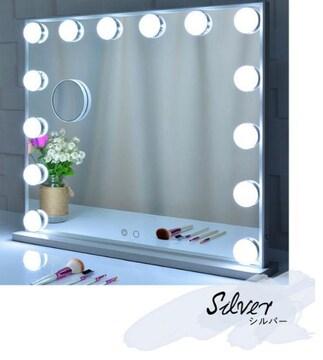 ハリウッドミラー ミラー 女優 鏡 卓上鏡 LEDライト ライト付き