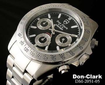 ダンクラーククロノ腕時計DM-2051-05ブラック