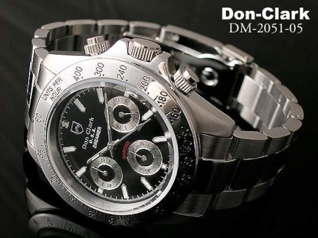 ダンクラーククロノ腕時計DM-2051-05ブラック < 男性アクセサリー/時計の