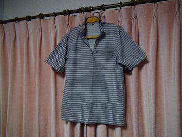 モリリンのポロシャツ(L)グレイ!。