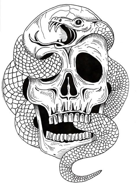 刺青 参考本 Skull Doodles 【タトゥー】 320 < 本/雑誌の