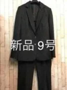 新品☆9号ストライプのロング丈ジャケットパンツスーツ☆jj959
