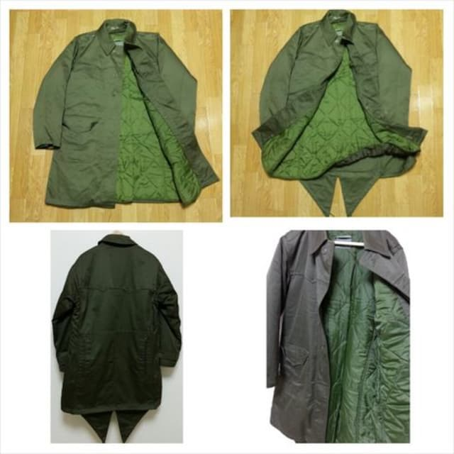 ミリタリーコート モッズコート 軍服 ライナー付 米軍フランス軍 レア物EXTRAファスナー < 男性ファッションの