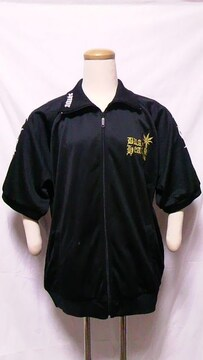 defective struct〓オラオラ系トライバルクロスプリント刺繍ジャージ〓半袖ジャケット