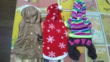 (ジ)小型犬用・服3着