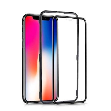 iPhoneXフィルム 全面 ガラスタイプ 3D曲面 ブラック