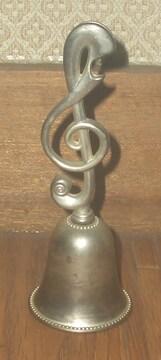 音符型金属製ハンドベル13cmX4.5cm程