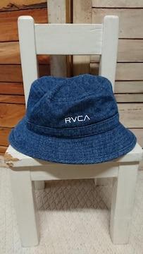 ルーカ/RVCA ハット デニム インディゴ ロゴ刺繍