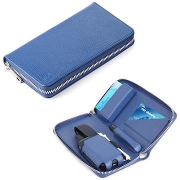 IQOS専用レザーケース 撥水加工 ブルー