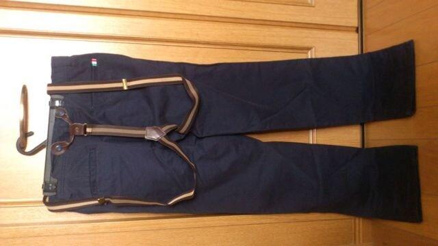 激安92%オフカジュアルパンツ、チノパン、ズボン(新品タグ、紺、L) < 女性ファッションの