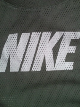 NIKE ナイキ メッシュ シャツ 二重構造 タンクトップ ベスト Lサイズ グレー ホワイト