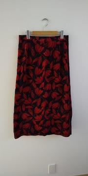 ベロア花柄スカート