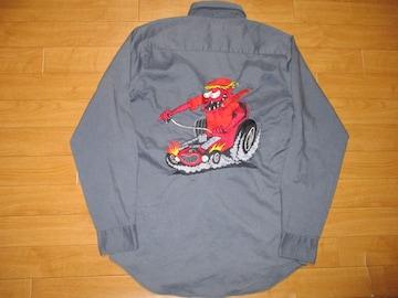 BIG MAC ビッグマック ホットロッド刺繍 ワークシャツ M