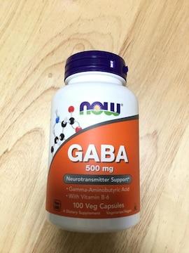 GABA 500mg ビタミンB6配合 100カプセル ギャバ now