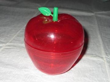 未使用☆クリアケース*りんご型小物入れ*インテリア(レッド)
