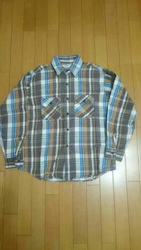 70年代 FIVE BROTHERチェックネルシャツ