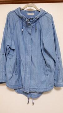 美品デニムフード付きジャケット