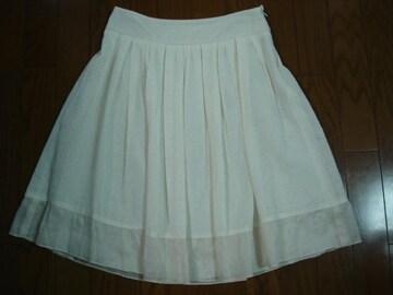 ナチュラルビューティー 大人かわいいシアーデザインスカート