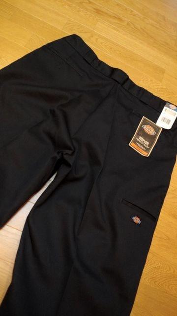 Dickiesワークパンツダブルニールーズフィット紺ネイビー W58×32 154cm �A < 男性ファッションの