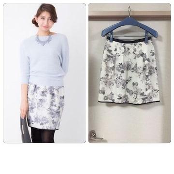 美品ジャスグリッティー オーガンジーオパールプリントスカート2