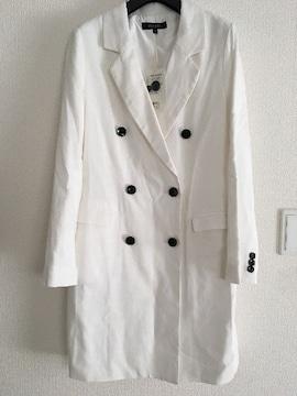 新品タグ付 rienda リエンダ スプリングコート ジャケット トレンチコート 白 ホワイト