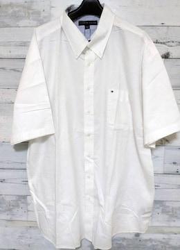 TommyHilfigerクラッシックワンポイントシャツホワイト2XL