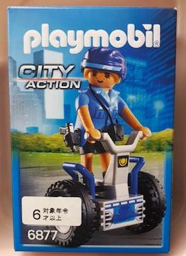 未使用プレイモービル ポリス女性警官と二輪車