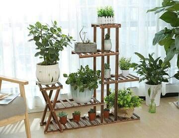 フラワースタンド 棚 木製 ガーデンラック 5段 花台