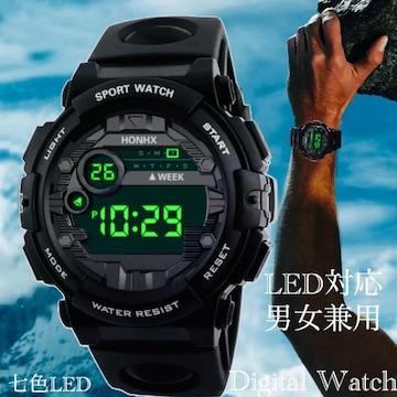 スポーツ腕時計 腕時計 時計 デジタル式  LED デジタル腕時計