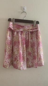 ユナイテッドアローズ 大人可愛いシフォン花柄スカート  36