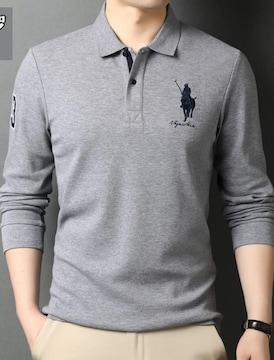 正規■POLO ポロ ラルフローレン メンズ 長袖ポロシャツ XL