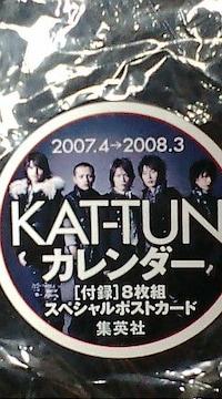 激安未開封美品KAT-TUN 5人公式カレンダー特典付きオマケ付