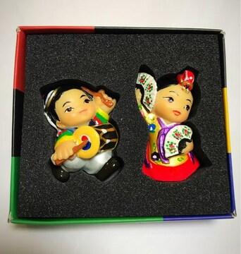 韓国 磁石付き ペアお人形