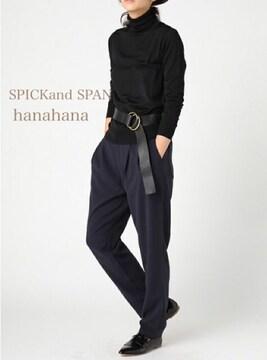 SPICKandSPAN*ACROタックテーパード  パンツ紺色新品
