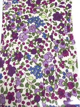 nario*バイアス18♪アイボリー地にパープルなお花