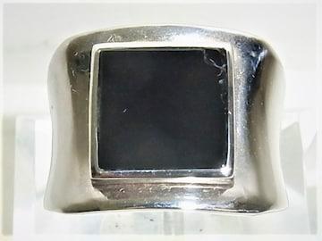 Pt900 プラチナ リング 指輪 オニキス 印台 26.7g 男女兼用
