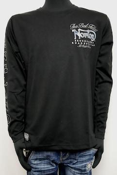 新品NortonブルースチールクルーロンT トップス黒L 203N1105