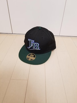 �KNEW ERA◆キャップ 黒×深緑 TB刺繍ロゴ 7 3/8 58.7�p ニューエラ