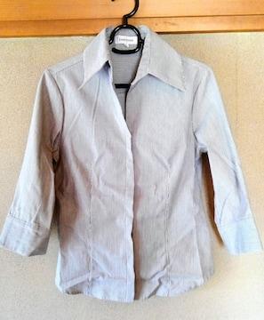 シャツ L 大きいサイズ 七分袖  春 夏用 レディース 洋服 ストラ